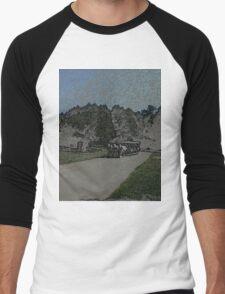 Carraige-Colored Pencil Men's Baseball ¾ T-Shirt