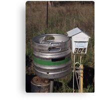Beer post Canvas Print