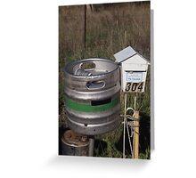 Beer post Greeting Card