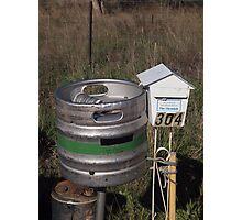 Beer post Photographic Print
