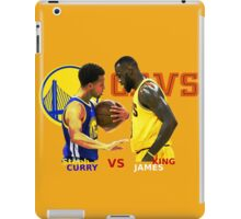 Curry vs James Final NBA iPad Case/Skin