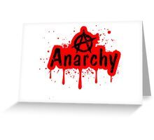 Anarchy Greeting Card