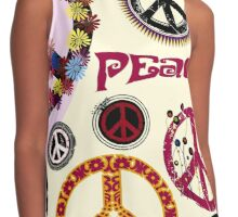 Flower Power Peace And Love Hippie  Contrast Tank