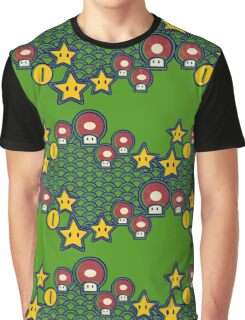Mushrooms and stars Graphic T-Shirt