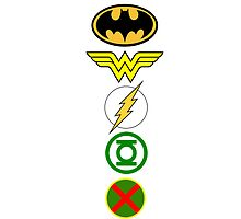 Justice League Logos by lunknown
