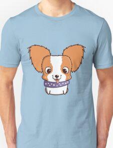 Cute little papillon puppy Unisex T-Shirt