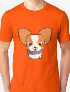 Cute little papillon puppy Unisex T-Shirt