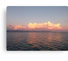 Greek Sunset Canvas Print