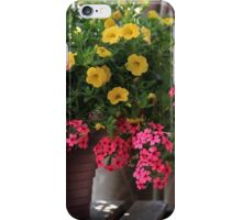 Flowers and empty beer bottle iPhone Case/Skin