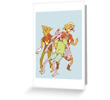 Bad Dogs Greeting Card