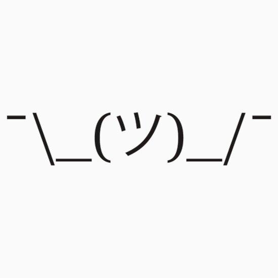 One Line Ascii Art Shrug : ツ ¯ shrug emoticon emoji quot stickers by jlittlew