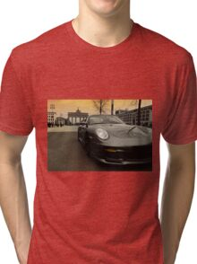 porsche 911, berlin city, brandenburg gate Tri-blend T-Shirt