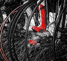 Penny Farthing Red Boots by Silken Photography