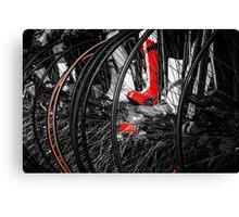 Penny Farthing Red Boots Canvas Print
