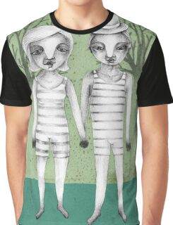 gymnast couple in the forest Graphic T-Shirt