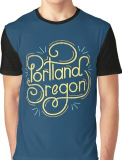 Portland Oregon Typography 2 Graphic T-Shirt