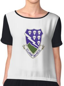 Currahee - 506th Infantry - 101st Airborne  Chiffon Top