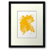 Fresh air expanse, in vibrant orange Framed Print