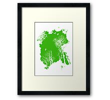 fresh air expanse, in green Framed Print