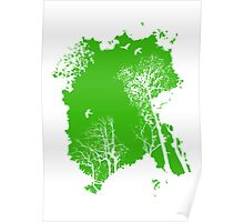 fresh air expanse, in green Poster