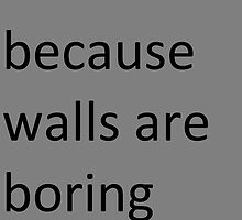 Walls are Boring by Cccel