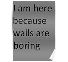 Walls are Boring Poster