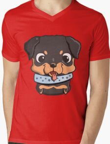 Cute little rottweiler puppy Mens V-Neck T-Shirt
