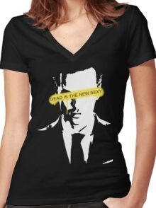 Jim Moriarty Dead is the new sexy Women's Fitted V-Neck T-Shirt