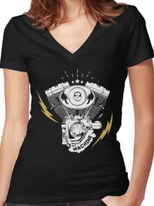 life ride machine Women's Fitted V-Neck T-Shirt