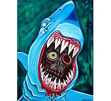"""Great White Gobstopper"" - Shark VS Zombie Photographic Print"