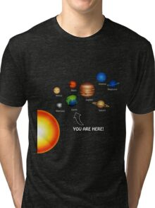 Space Solar System Funny T-Shirt Tri-blend T-Shirt