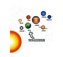 Space Solar System Funny T-Shirt Photographic Print