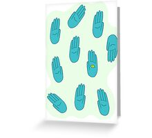 Ten Hands And One Eye Greeting Card