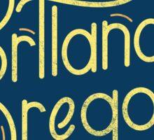 Portland Oregon Typography 2  Sticker