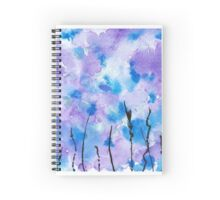 """Blue Purple Grass"" Spiral Notebook"