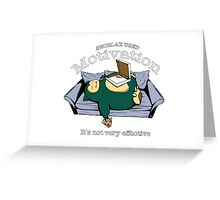 Pokemon Snorlax Greeting Card