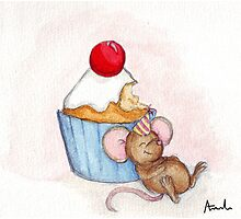 Cupcake Mouse Photographic Print
