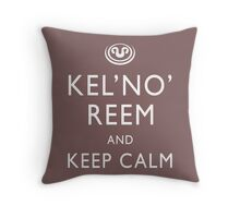 Kel'no'reem and keep calm Throw Pillow
