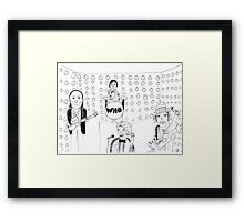 Doctor WHO Band Framed Print
