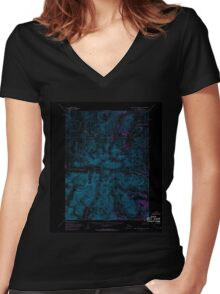 USGS TOPO Map Alaska AK Baird Mountains C-5 354182 1955 63360 Inverted Women's Fitted V-Neck T-Shirt