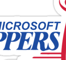 LA (Los Angeles) Microsoft Clippy Clippers Parody Sticker