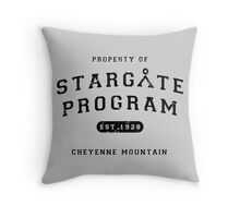 Property of Stargate Program Throw Pillow