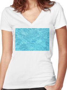 Crystal Water Women's Fitted V-Neck T-Shirt