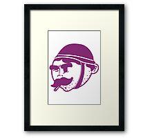 Retro Army Illustration  Framed Print