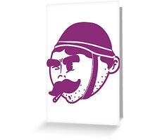 Retro Army Illustration  Greeting Card