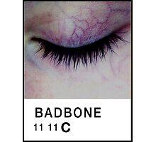 Bad Bone (Pantone) Closed Eyelid 11:11 Photographic Print