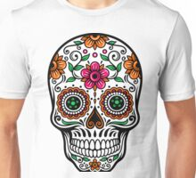 Colorful Floral Skull Unisex T-Shirt