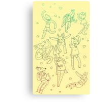 Animal Dance Party Canvas Print