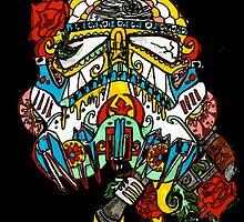 Storm Trooper Sugar Skull by corrsollarobot