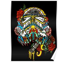 Storm Trooper Sugar Skull Poster